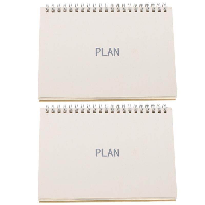 2 шт. полезные настольные календари для дома, планировочные календари (как показано)