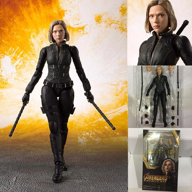 Shf figura filme final infinito guerra viúva negra natasha romanoff figura de ação modelo boneca brinquedo presente