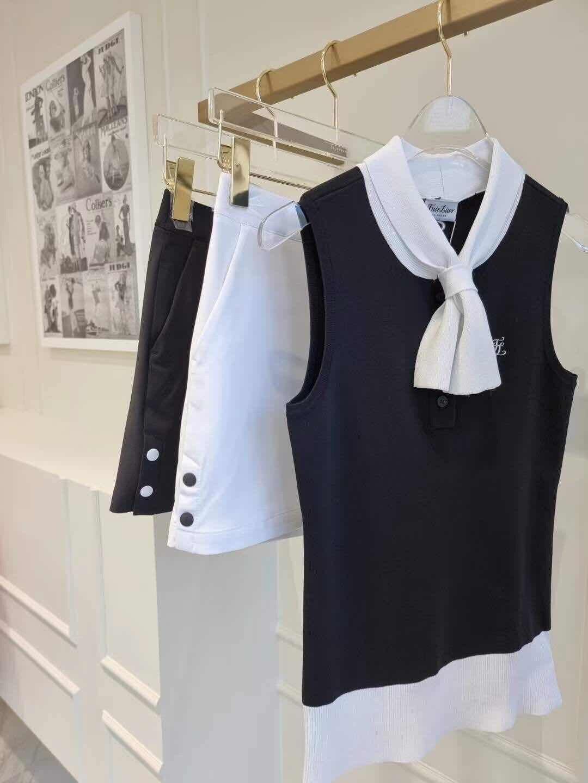 FL Fashion-Camiseta sin mangas para mujer, Top ajustado con lazo, talla única,...