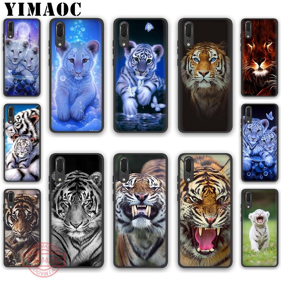 YIMAOC Animal cachorro de tigre suave de silicona caso para Huawei P30 P20 Pro P10 P9 P8 Lite 2017 de 2018 a 2019