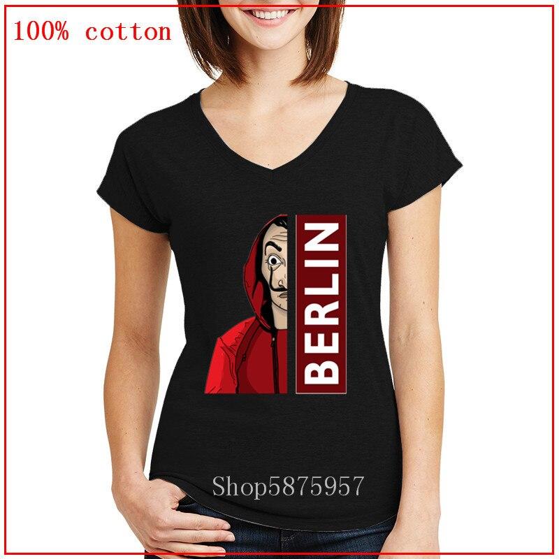 La Casa De Papel el La Casa De Papel Ullzang camiseta mujeres verano dinero Heist v cuello camiseta Bella Ciao 90s camiseta De moda Top Tee