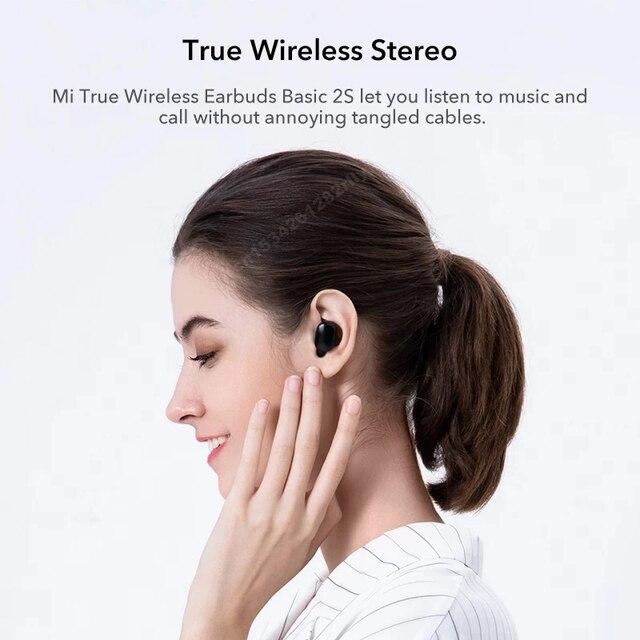 Original Xiaomi Redmi Airdots 2s Earphone Mi True Wireless Earbuds Basic 2s Bluetooth 5.0 Air2 SE TWS Mic Gaming Mode In Stock 6