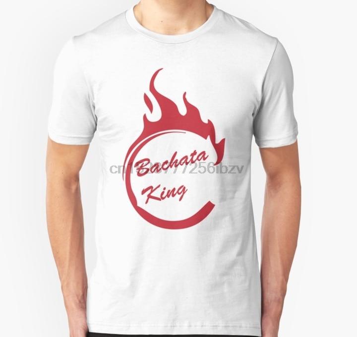 Camiseta de hombre Bachata King Flame, camiseta estampada, camiseta, top