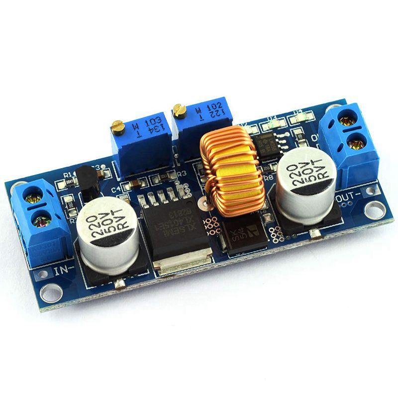 DC-DC módulo regulador de corriente constante Step-down 4-38v entrada a 1,25-36 v salida ajustable gran potencia 5A 75W Convertidor para Cha