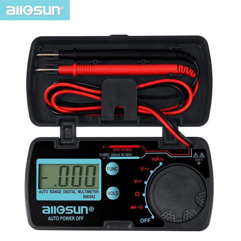 all-sun EM3082 Mini Auto Range Digital Multimeter  Tester AC DC Ammeter Voltmeter Ohm Portable Pocket Meter voltage meter