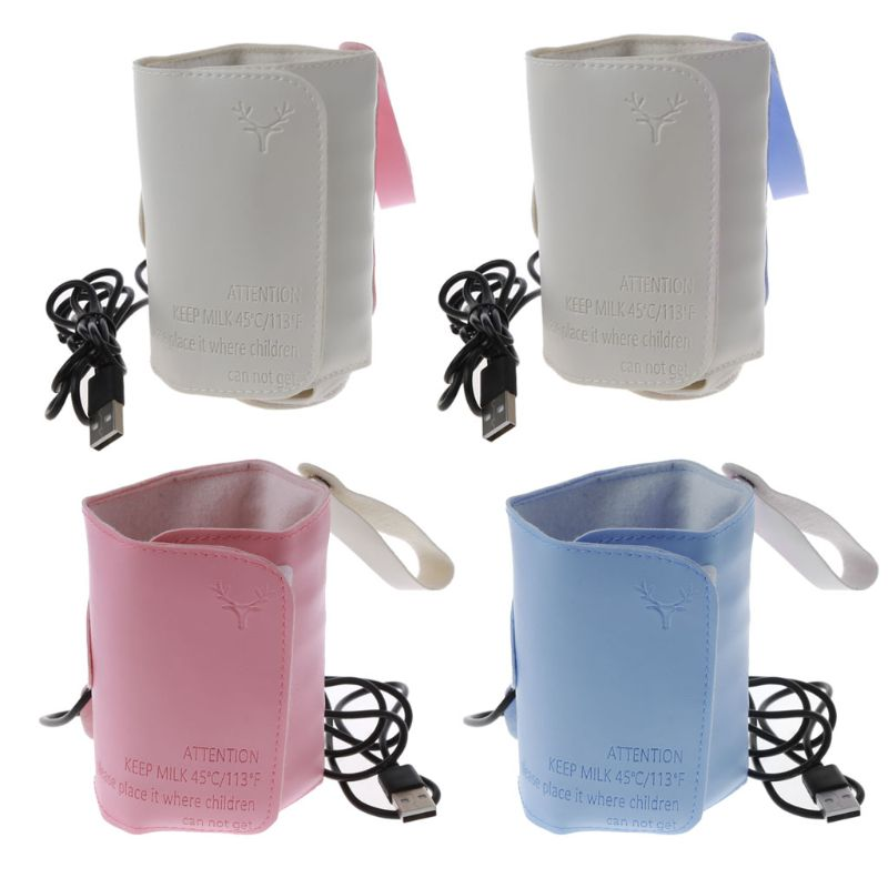 USB Charging Baby Bottle Heated Cover Newborn Baby Bottle Feeding Insulated Bag