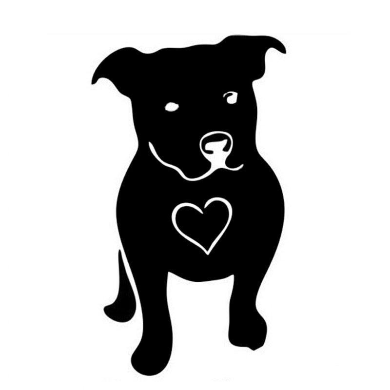 Автомобильная наклейка, светоотражающая Автомобильная наклейка LOVE BULL Bulldog, Водонепроницаемая Автомобильная наклейка, черный/серебристый, ...