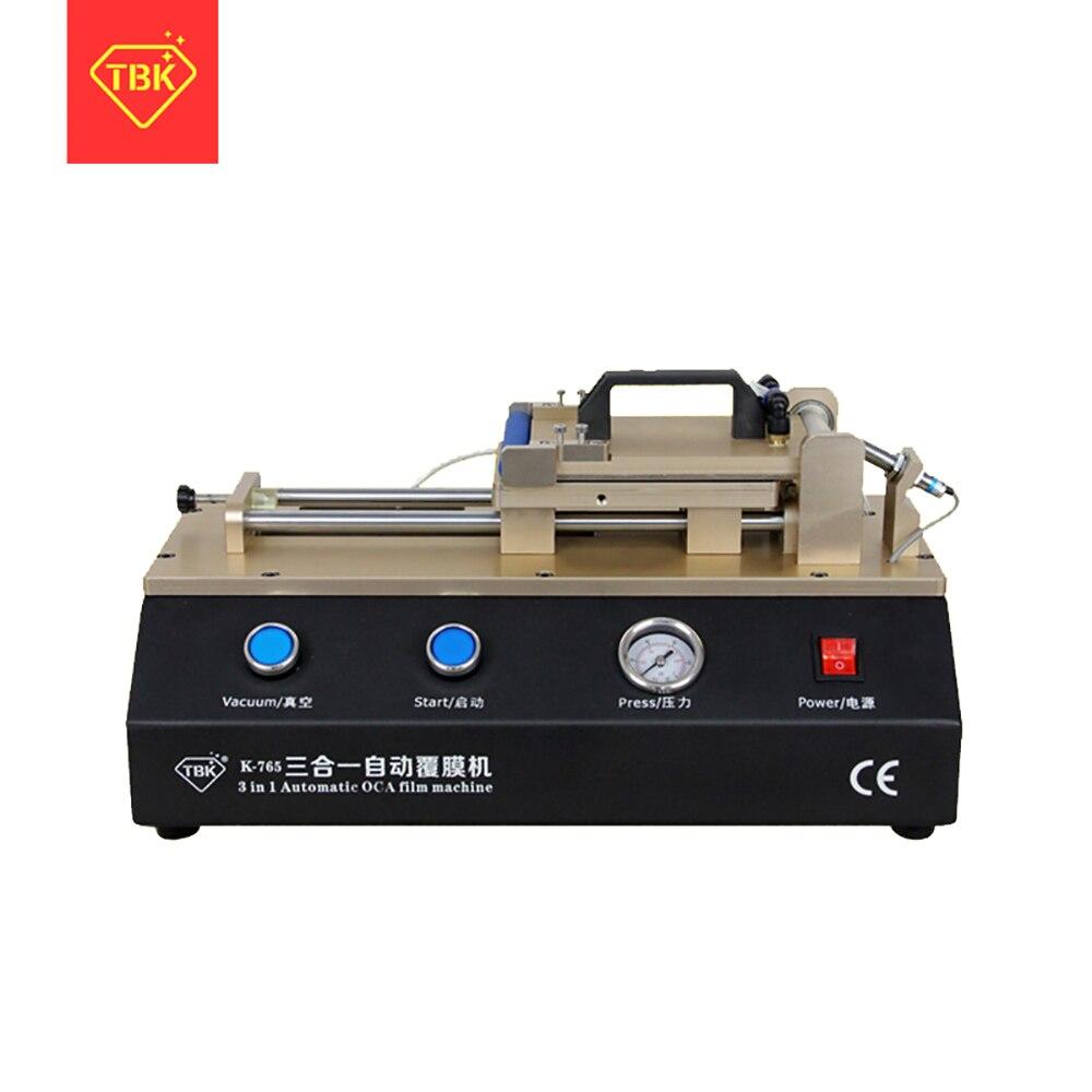TBK-765  3 in 1 Automatic OCA Film Machine Built-in Vacuum Pump Air Compressor LCD Touch Screen OCA Laminator Laminating Machine