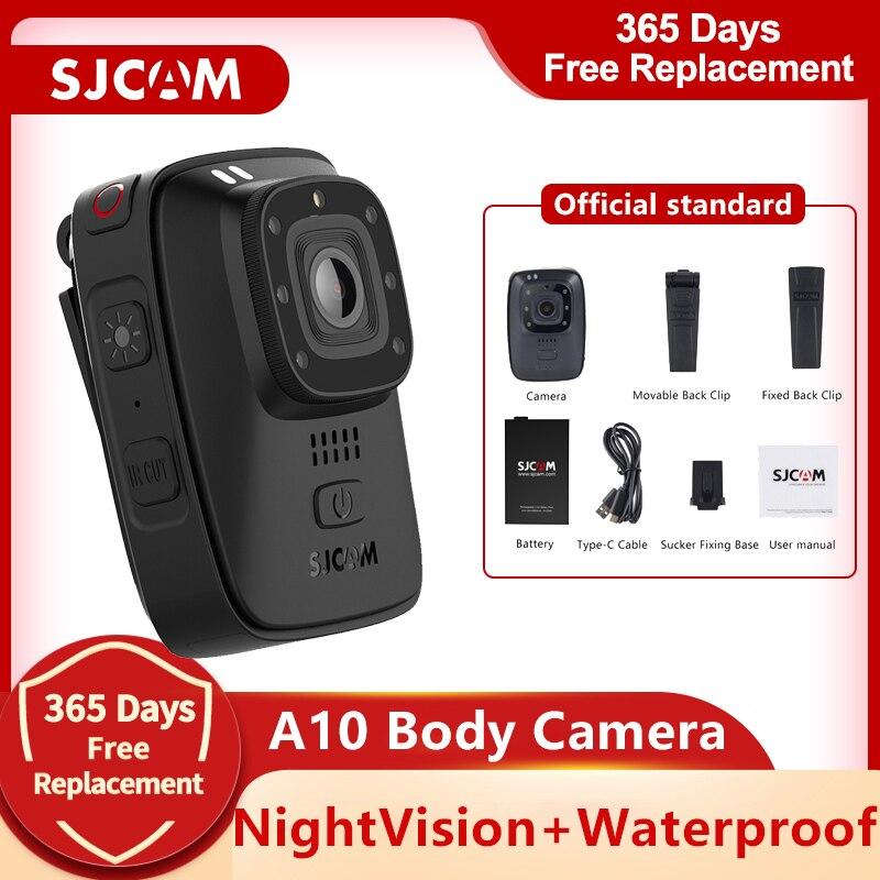 SJCAM A10 كاميرا يمكن حملها بالجسم المحمولة يمكن ارتداؤها الأشعة تحت الحمراء كاميرا الأمن الأشعة تحت الحمراء قص للرؤية الليلية ليزر لتحديد المو...
