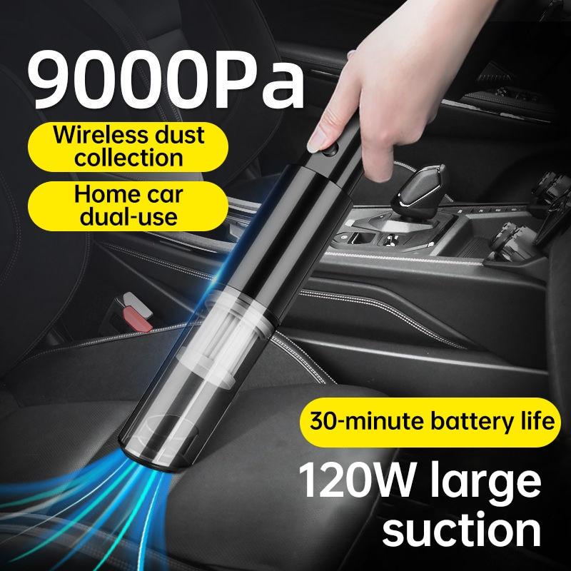 Car Products Wireless Vacuum Cleaner Portable Mini Vacuum Cleaner Charging High Power  Car Home Dual Purpose Handheld Vacu