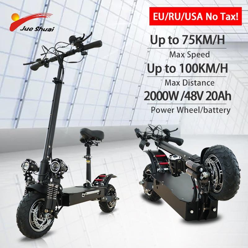 Jueshuai-patinete eléctrico de 2600W para adultos, patinete eléctrico de dos motores