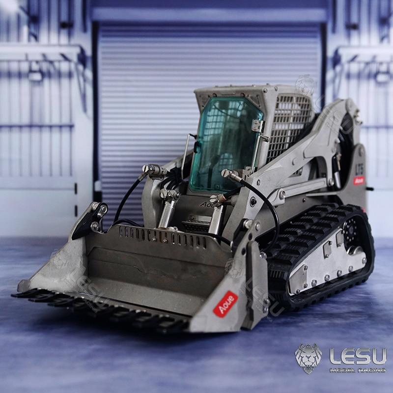 LESU 1/14 RC Metal Hydraulic Aoue-LT5 Rubber Tracked Skid-Steer Loader DIY Model Lights TH17187