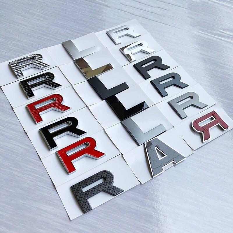 DIY ABS cartas emblema para la Tierra Range Rover SPORT autobiografía SV VELAR estilo de coche medio Hood y el tronco logotipo insignia pegatina