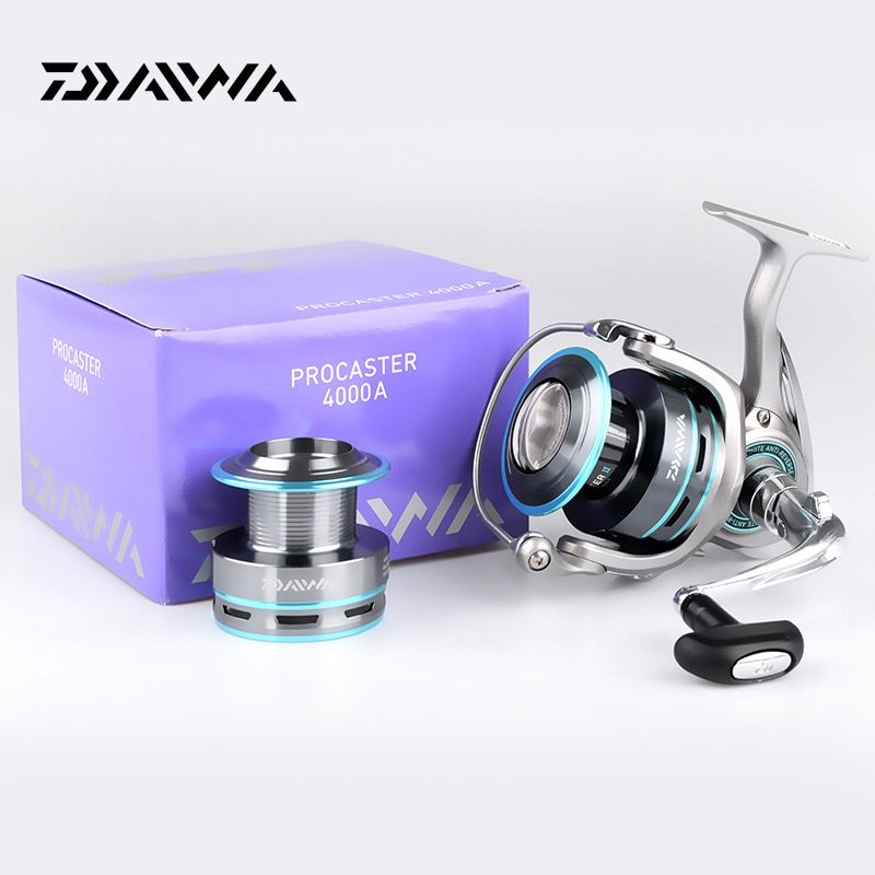 DAIWA Fishing Reel PROCASTER 2000A 2500A 3000A 4000A Spinning Fishing Reel 7BB Folding Handle Carp Free Metal Spool Spare Tackle enlarge