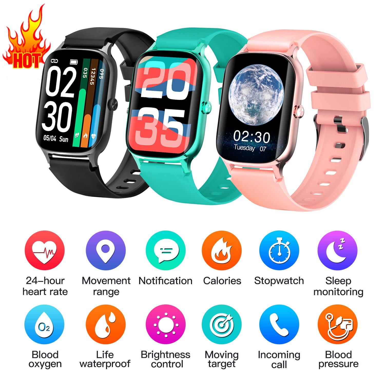 Smartveres com Monitor de Temperatura Femininos para Ios Ip67 à Prova Freqüência Cardíaca Água Relógio Inteligente Masculino Fitness Trackers Relógios Android Dip67