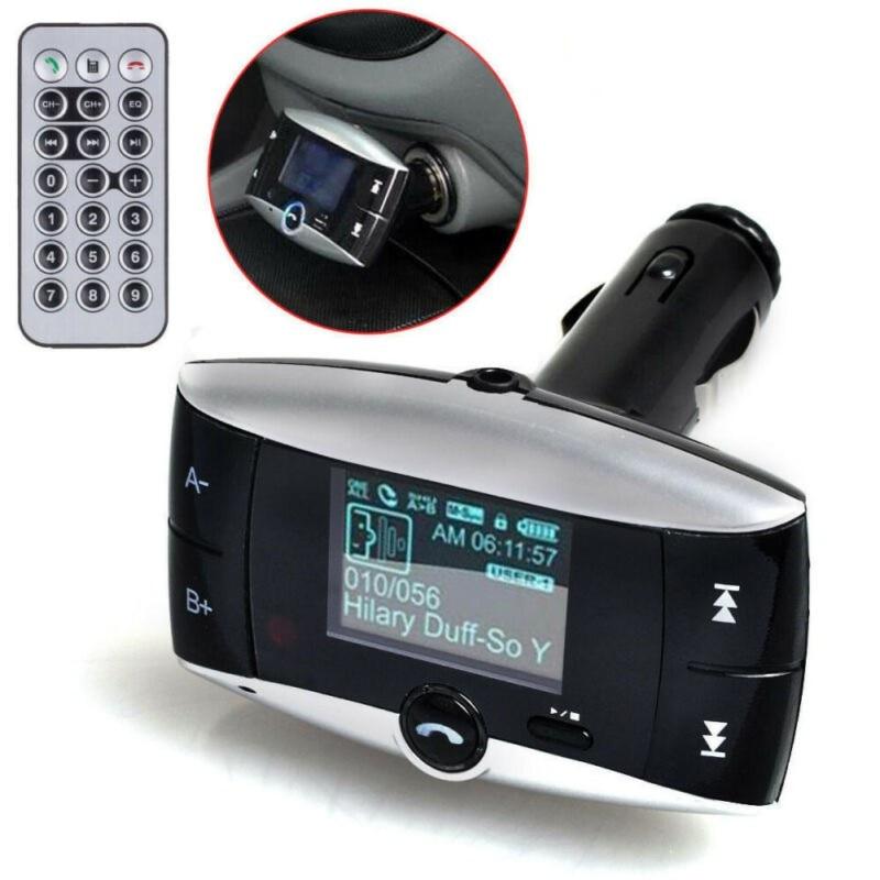 Беспроводной FM-модулятор, автомобильный Bluetooth MP3-плеер, USB 1,5 Дюймовый ЖК-экран с дистанционным управлением, высокое качество