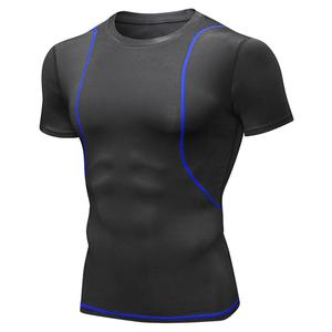 Summer sports Men Breathable Skinny Short Sleeve Fitness Sports Running Training Stretch Quick Dry T-Shirt Outdoor sport T-shirt
