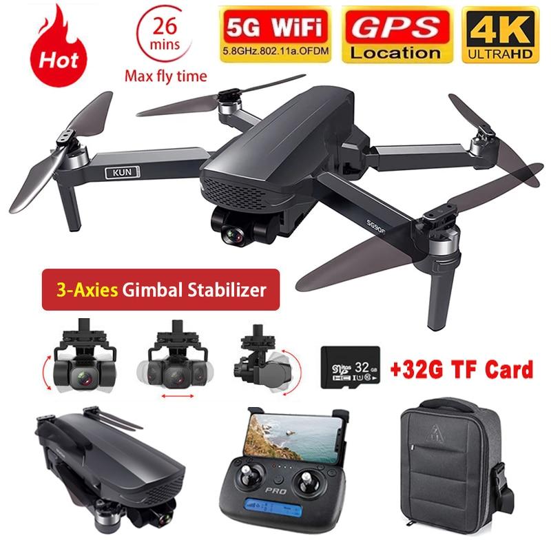 ZLL-Dron SG908 con GPS, 3 ejes, cardán, 4K, cámara 5G, Wifi, FPV,...