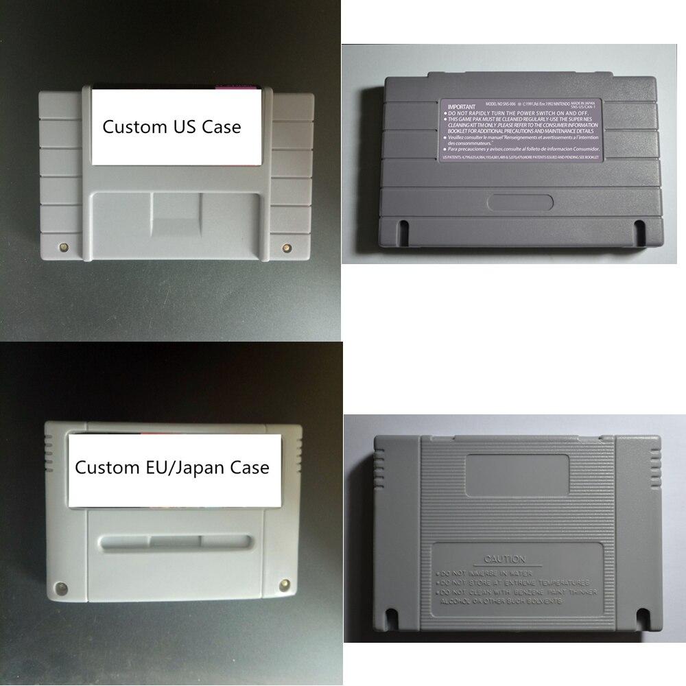 Tarjeta para juego personalizado para consola de juegos SNES de 16 bits