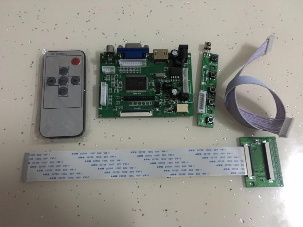 Yqwsyxl HDMI + VGA + 2AV 60pin 800*480 ЖК-дисплей драйвер платы контроллера комплект для панели HSD062IDW1 HSD080IDW1 HSD070IDW1