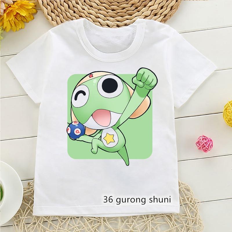 Nueva moda de niñas camiseta anime de dibujos animados a Keroro estampado...
