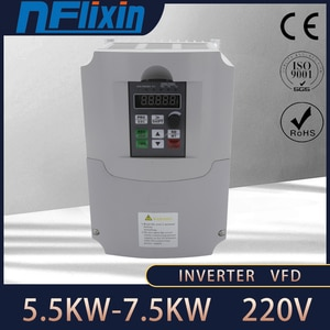 0.75kw/1.5kw/2.2kw VFD single phase 220V in and 3 phase out frequency converter Drive 3 phase motor speed