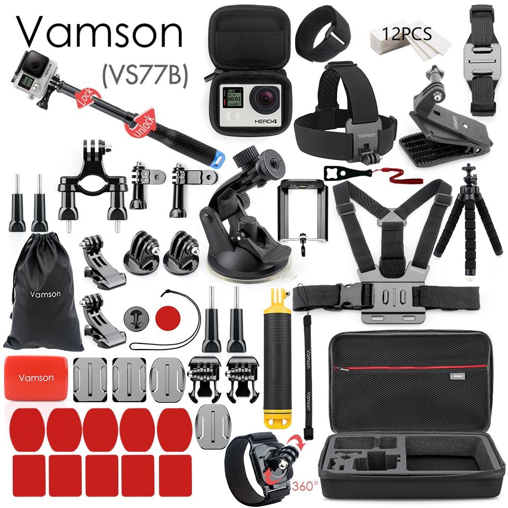 Vamson for Gopro Accessories Set for go pro hero 10 9 8 7 6 5 4 kit selfie stick for Insta360 for OSMO Action for yi case VS77