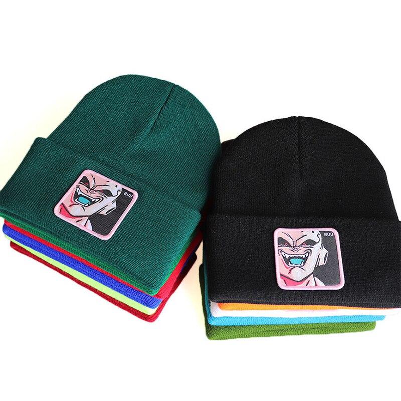 Chapeau de plein air personnage Dragon Ball devil BUU   Chapeau en tricot, chapeau en laine, casquette de ski, hip hop