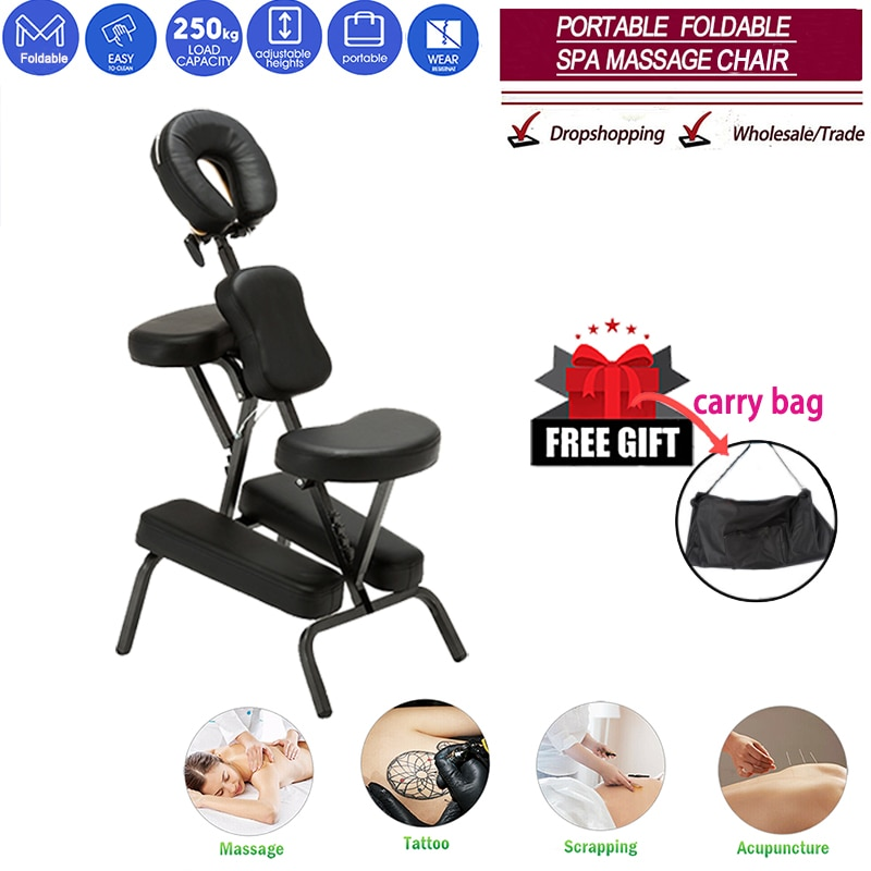 Salon chair Folding Adjustable Tattoo Scraping Chair folding massage chair portable tattoo chair folding beauty bed salon