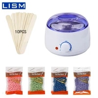 hair removal wax melt machine heater wax beans 10 wood stickers hair removal machine waxing kit calentador de cera hair removal