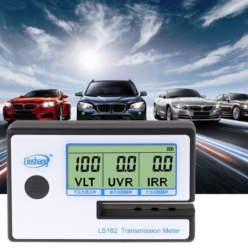 Medidor de tintado de ventana Solar LS162, medidor de transmisión VLT UV IR, probador de rechazo P0RE