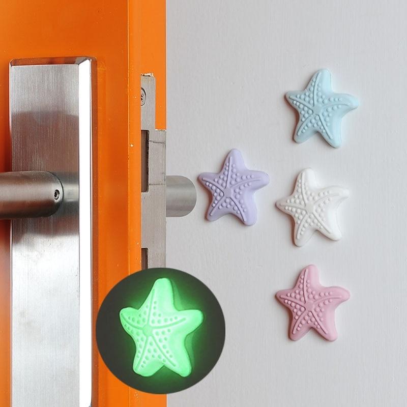 Luminous luminescent Home Door Crash Pads Anti-collision Mute Door Knob Mats Wall Buffer Doorknob Handle Lock Protective Stopper
