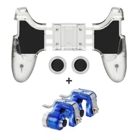 mobile phone gaming controller gamepad handle fr pubg l1 r1 shooter trigger fire key abs button game joystick for iphone android