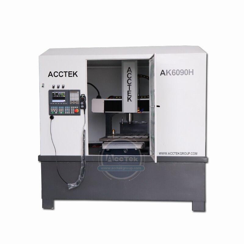 Closed design 6090 6060 mini shoe mould making cnc engraving machine with Syntec ATC cnc milling machine