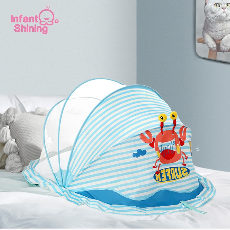 baby crib netting baby bed mosquito nets mattress pillow portable mosquito net tent crib sleeping cushion collapsible for kids Infant Shining Children's Beds Mosquito Nets High-Density Foldable Baby Mosquito Net Baby Bed Children's Tent Crib Net for Kids