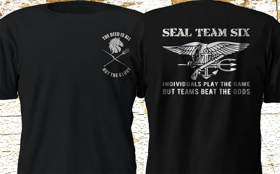 New Seal Team 6 Six Devgru Black Squadron Nswdg 2020 New Brand High Quality for Man Better Crazy T Shirts