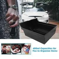 black car storage boxes for tesla model 3 y 2021 car center console organizer tray storage box interior accessies