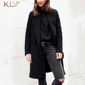 Women Jacket Winter Autumn Warm Woollen Coat Long Sleeve Lapel Outwear Jacket Casual Elegant Loose Overcoats 2019 Plus Size 19Ag