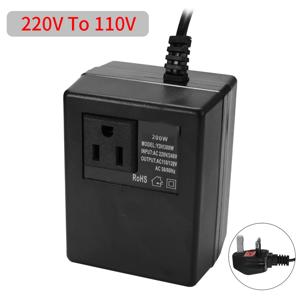 1000w transformer ac220v to 110v ac110v to 220v converter 200W AC 220V To 110V Intelligent Efficient Power Adapter Step Down Transformer Voltage Converter Travel Power Adapter Household