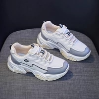 2021 autumn new korean style breathable casual sports shoes students running board shoes womens fashionable dad shoes