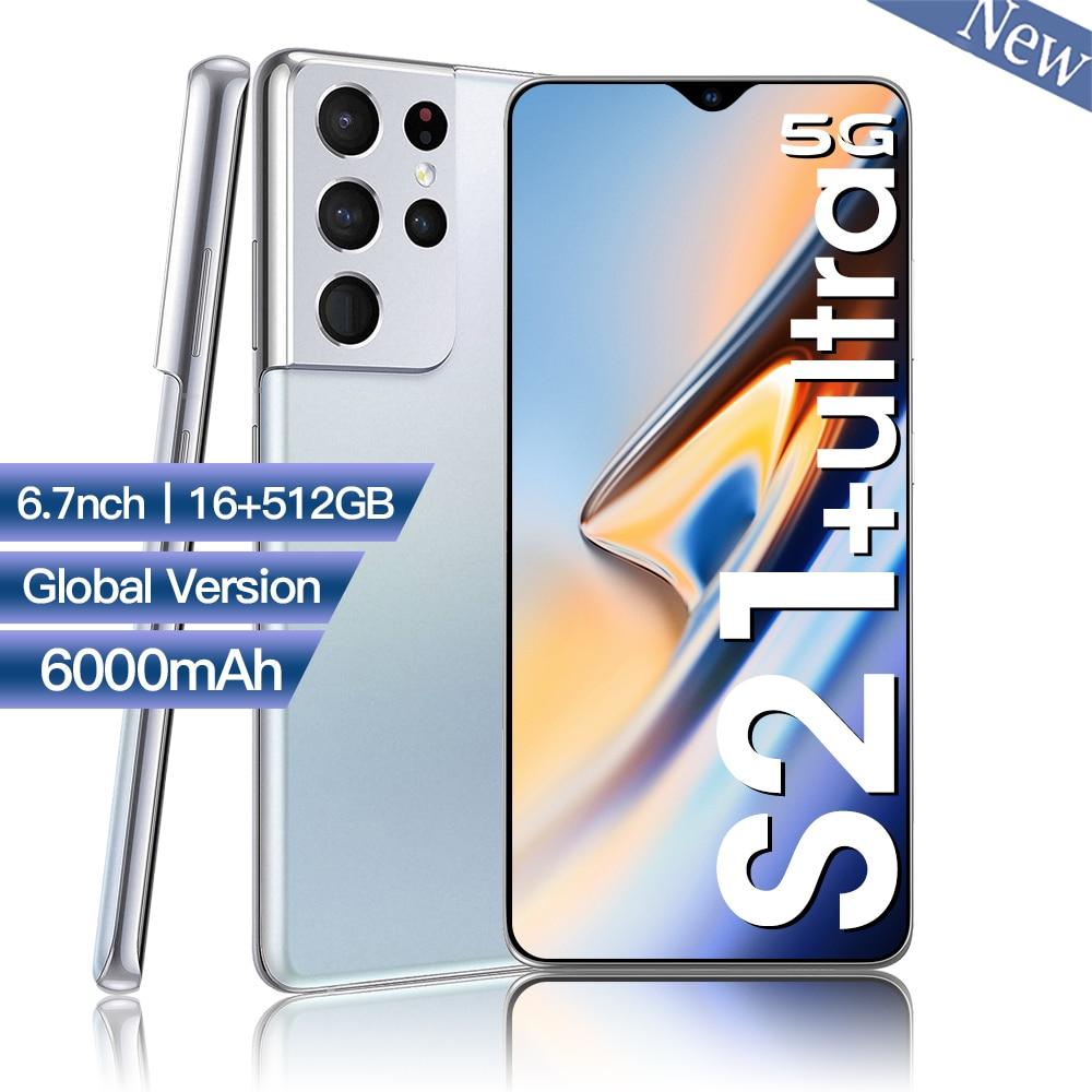 Global Version S21 Ultra 5G Dual Sim Unlocked Cellphone Mobile Phones Smartphone 16GB RAM 512GB ROM