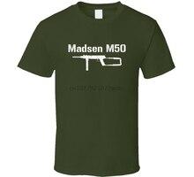 Madsen – t-shirt militaire en détresse, pistolet de sous-machine M50