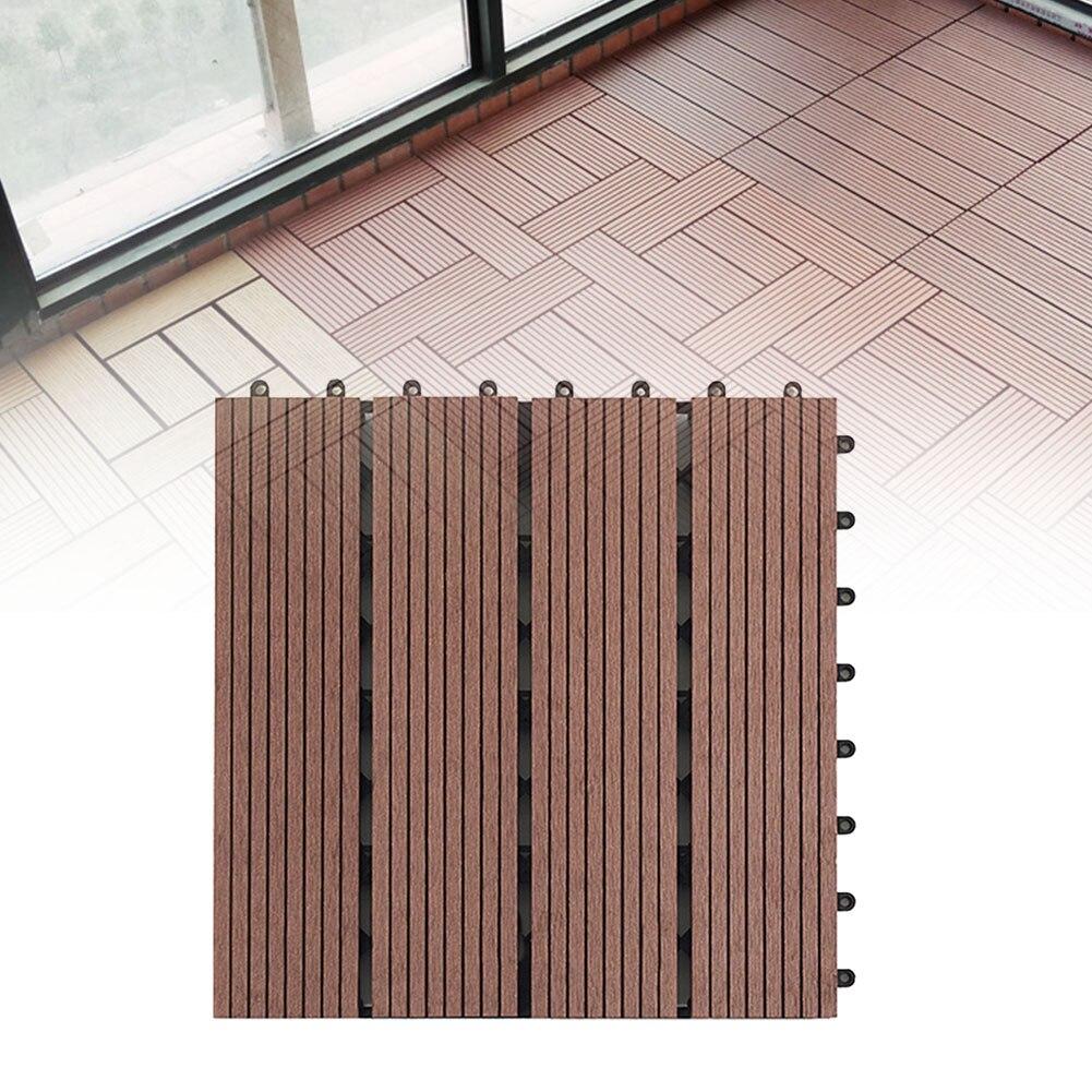 30x30cm DIY Splicing Anti-corrosión fácil ajuste exterior tablero suelo cubierta terraza accesorios jardín azulejos de balcón respetuoso con el medio ambiente