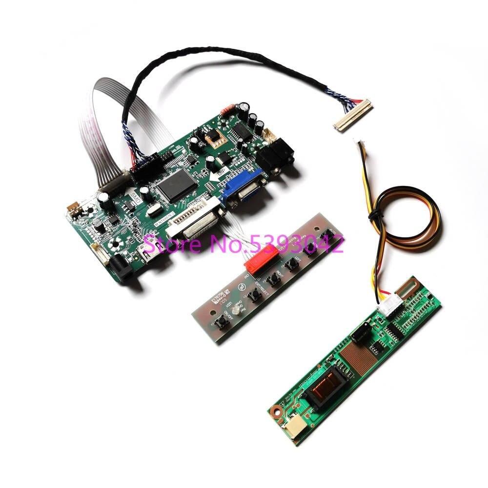 تناسب LP154WX5 (TL)(A1)/(TL)(B1)/(TL)(C1) LVDS 30-pin VGA DVI 1CCFL 1280*800 لوحة المفاتيح M.NT68676 طقم لوحة تحكم العرض