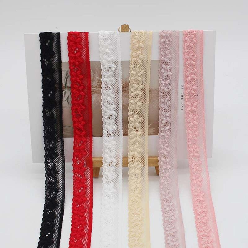 8 yardas 2cm encaje elástico Trim Craft accesorios de ropa DIY hecho a mano costura bragas Material suministros banda elástica
