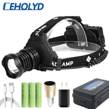 Ceholyd Led XHP100 XHP90 Headlamp Zoomable Head Lamp Hunting Fishing Headlight 1000000LM Flashlight 3PCS 18650 Battery
