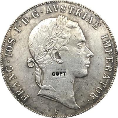 1853 Italia 1 Scudo-Franz Joseph me monedas copia
