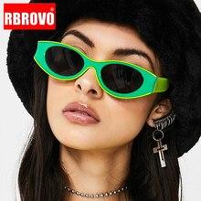 RBROVO 2021 occhiali da sole retrò Cateye donna occhiali da sole Vintage piccoli per donna/uomo occhiali da vista di lusso di marca donna/uomo Gafas De Sol