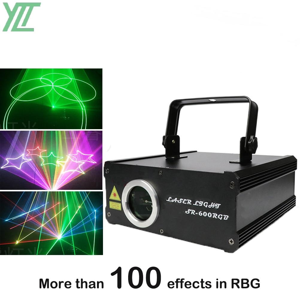 600mW RGB DMX كامل اللون ليزر الرسوم المتحركة العارض برو DJ ديسكو مرحلة الإضاءة تأثير حفل زفاف عطلة نادي بار الماسح الضوئي