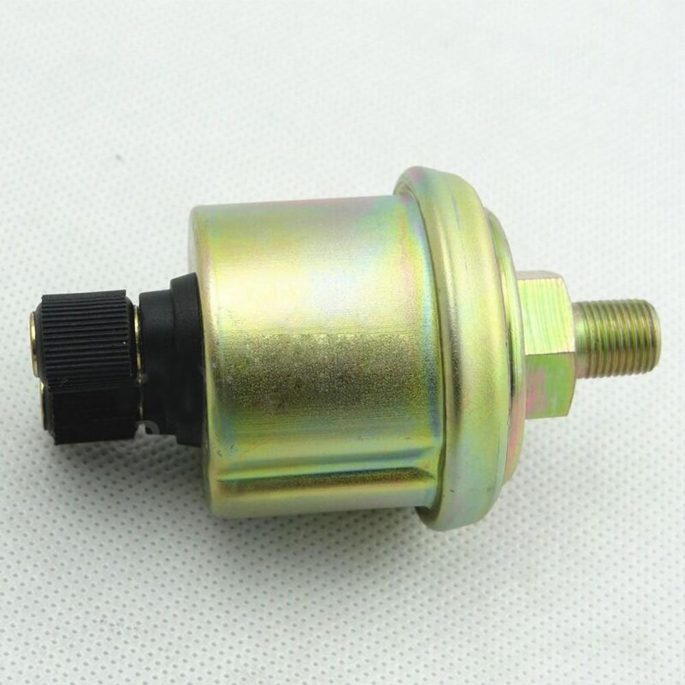 Sensor de pressão óleo do carro interruptor medidor medidor medição combustível remetente unidade 1/8 npt 80x40mm indicador peças reposição